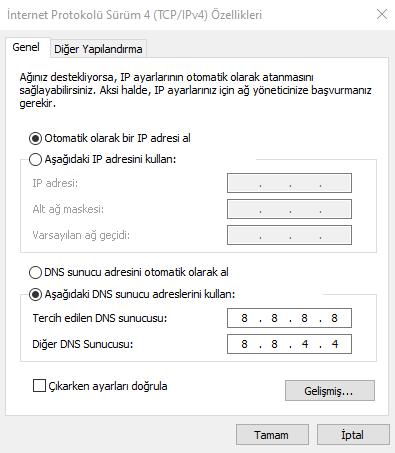 DNS Değiştirmek